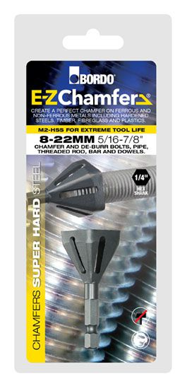 8-22mm E-Z Chamfer hex shank de-burring and chamfering tool